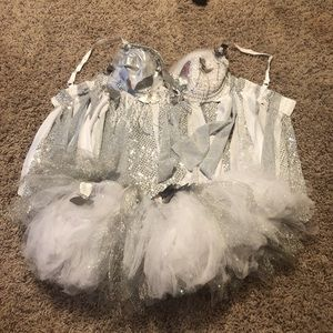 Silver sparkly butterfly rave outfit